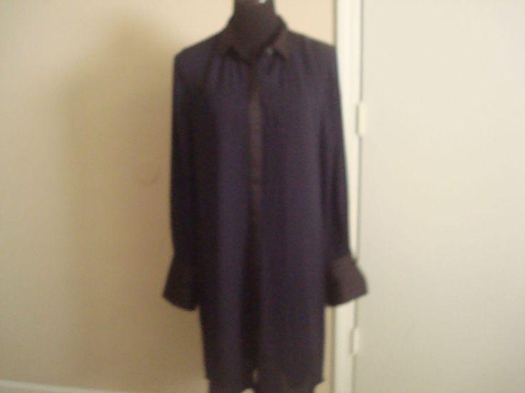 NWT J Crew  Women  shirtdress in colorblock item B7429  black 8 #JCrew #Shritdress