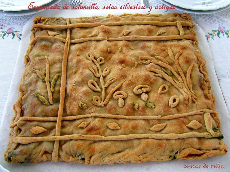 cousas de milia: Empanada de solomillo, setas silvestres y ortigas. #wbd2014