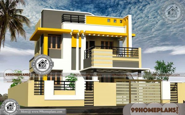 Indian Home Front Elevation 450 Modern Double Storey House Designs Model House Plan Modern House Exterior House Elevation
