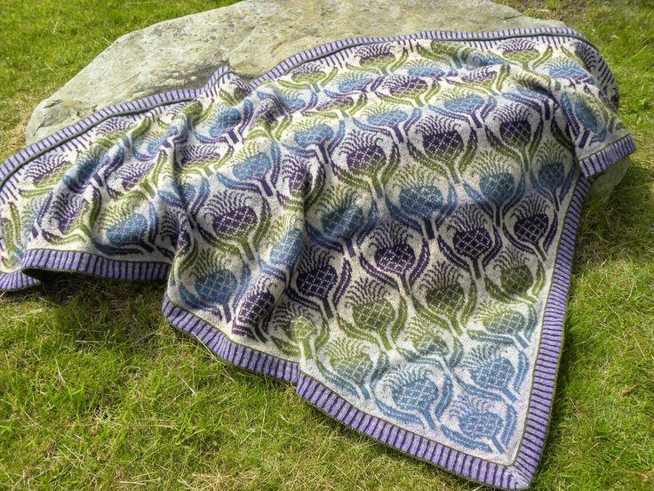 Flowers of Scotland. New pattern from Ruth Sørensen. She used Kauni multi yarn EI and Kauni multi yarn EFL.