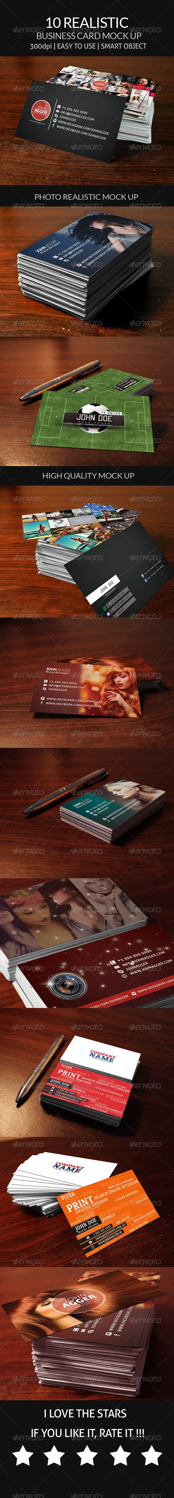 !0 realistic Business card mock up
