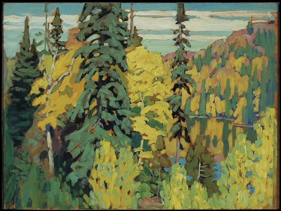Trees and Pool, (1920)  Lawren Stewart Harris