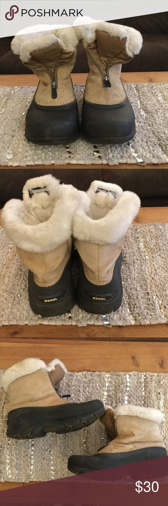 Sorel Thinsulate Boots Some markings in last picture. Overall in good condition, soles are practically perfect. Used but a GREAT option for a DURABLE boot for a fraction of the price! Sorel Shoes Winter & Rain Boots