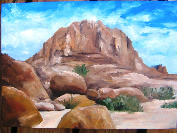 Spitzkoppe, Namibia... oil on canvas, Katja. Jan 2014