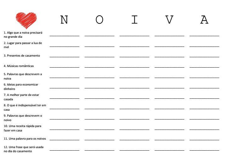 Brincadeira para download: stop noivas | Diário da noiva criativa