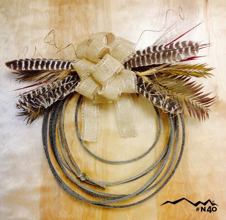 Decorative rope wreath made with rope from North 40 Outfitters.
