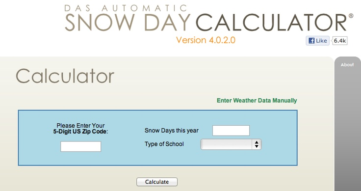 What are your chances for a snow day?