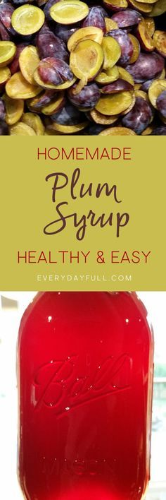 HOMEMADE PLUM SYRUP RECIPE - Making plum syrup is a fantastic way to use up all those plums during the end of summer. This delicious recipe is perfect to top waffles and pancakes, or to use as a sauce with pork chops or sausage. Our recipe uses less sugar, so it's much healthier than the store bought varieties as well.