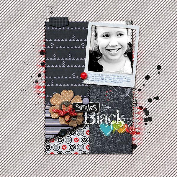 loves black  - Scrapbook.com