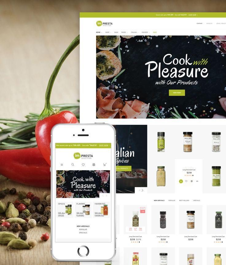 Impresta - Spices Store PrestaShop Theme #64388