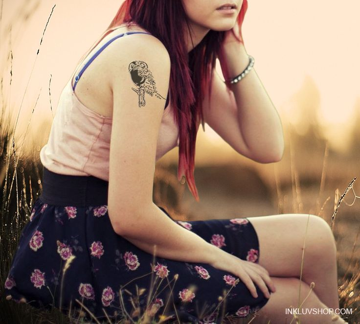 Sport #Owl #Temptat on your skin to send a positive message to the people that be a like the wise old Owl - The more he saw the less he spoke. The less he spoke the more he heard.   For more #Birds Temporary #Tattoos visit at http://inkluvshop.com  #fortheloveofit
