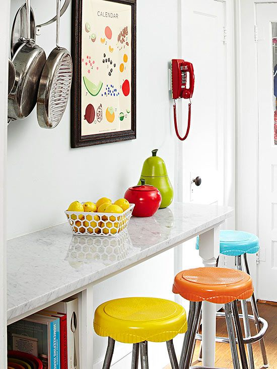 Colorful Vintage Bottlecap Stools Fun From Bhg