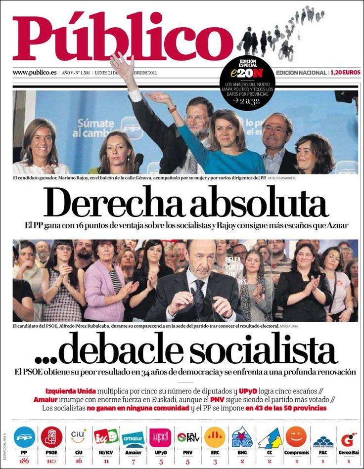 Diario Público tras las elecciones generales de 2011