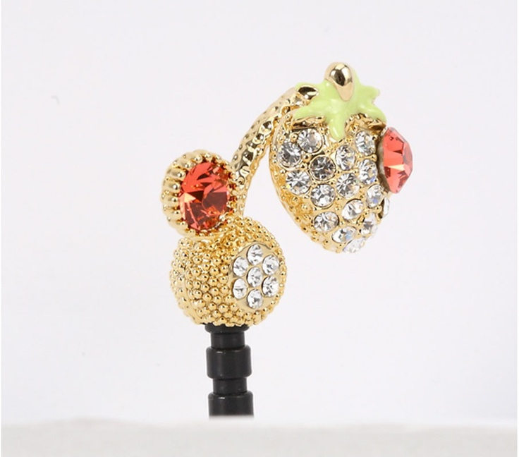 Cubic Phone Ear Cap - Strawberry. Price $19.99  / 딸기폰캡