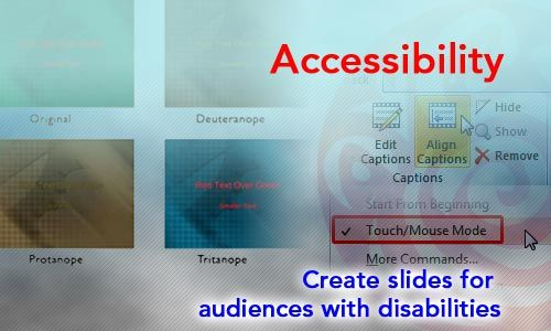 Create #PowerPoint slide content for audiences that have disabilities, to make all content more accessible to them