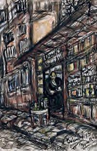 Second-hand Bookstore by Fahrelnissa Zeid