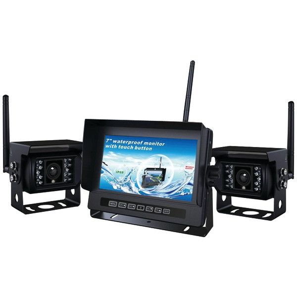 CrimeStopper Security Products SV-2002.BRV 2-Channel, 2.4GHz Digital Wireless RV Backup Camera System with Parking-Assist Lines