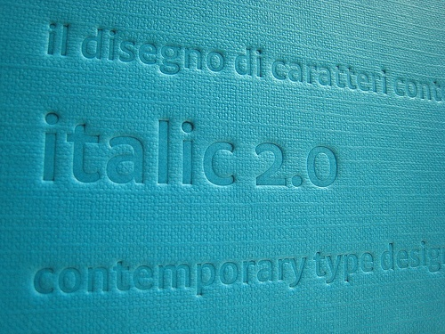 Silvia Sfligiotti was one of the three curators for the book Italic, which is a research project on contemporary Italian type design.