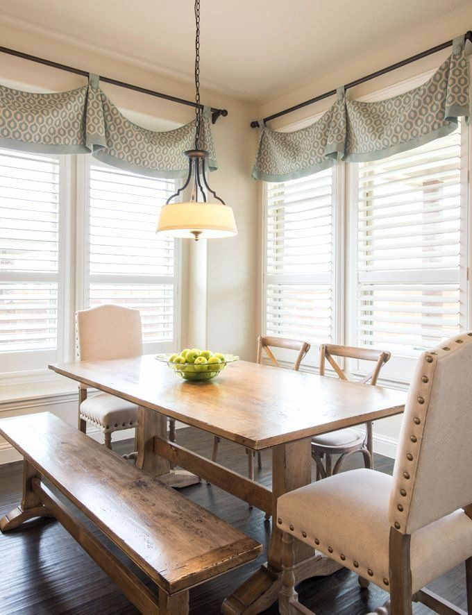 Window Treatments For Dining Room New Interiors By Kathy Rollins In 2020 Dining Room Window Treatments Dining Room Windows Kitchen Window Treatments