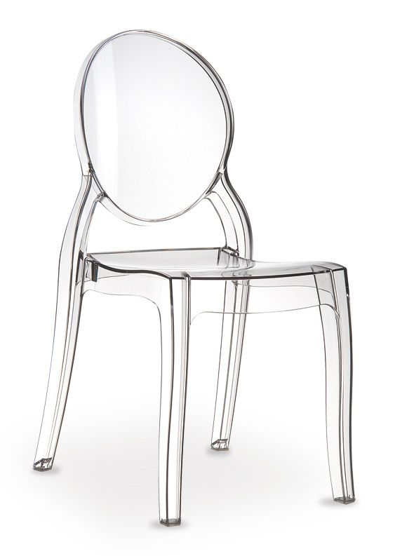 Acrylic Ghost Chair Elizabeth Made Of Polycarbonate It Seems To Be Real Glass Transparent Chair Ghost Chair Patio Dining Chairs