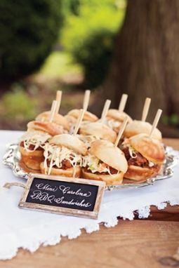BBQ sliders!  Southern Soiree - Charlotte Wedding - June 2012 - Charlotte, NC
