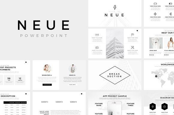 228 best powerpoint presentation templates images on pinterest ad neue minimal powerpoint template presentations present your works in a professional and toneelgroepblik Images