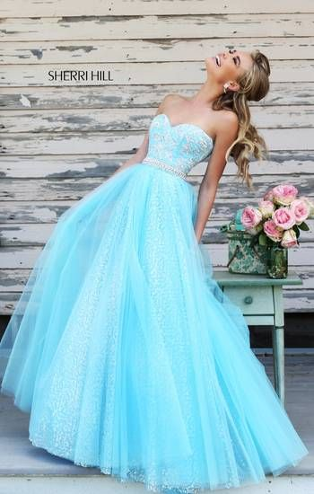 I just love this dress! Light blue and silver are always gorgeous together!