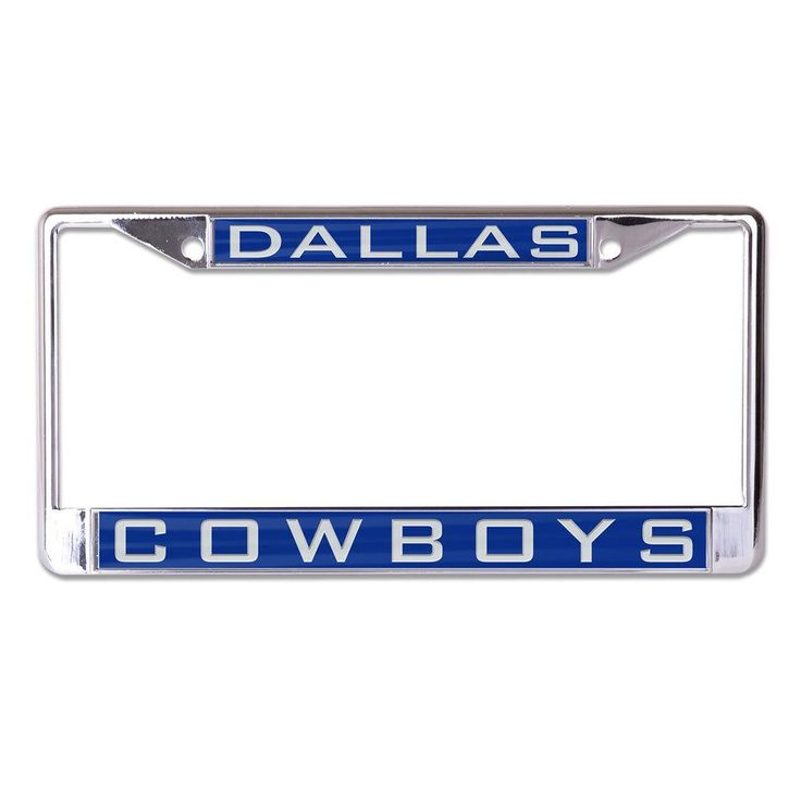 Dallas Cowboys License Plate Frame - Inlaid
