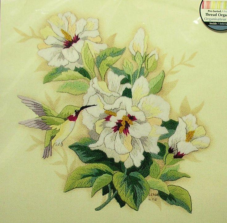 Dimensions crewel embroidery kit hibiscus floral nip