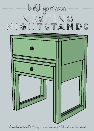 build your own nightstand with 18 free plans these nesting nightstands are like two tables in. Black Bedroom Furniture Sets. Home Design Ideas