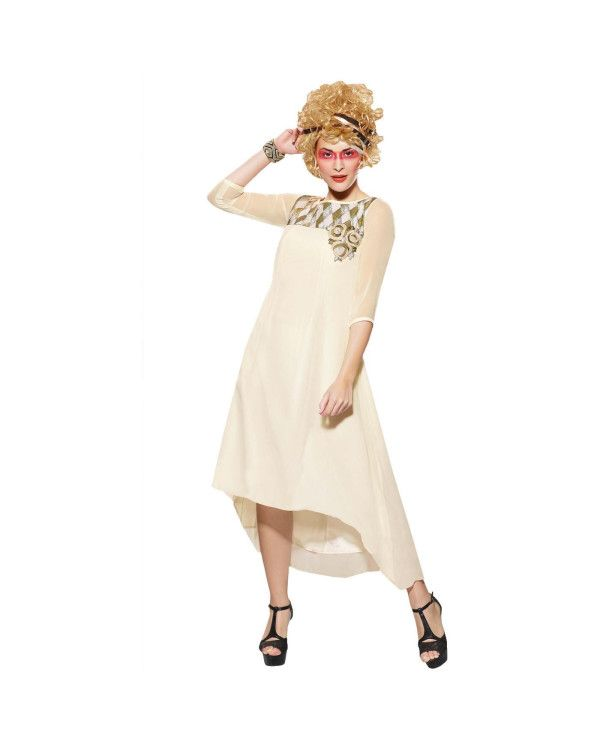 Cream Zari Work Kurti  To know more or buy, please click Below:- http://www.ethnicstation.com/cream-zari-work-kurti-rc5620  #zariWorkKurtis  #OnlineShopping