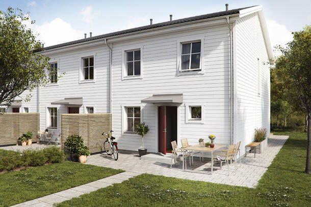 New built terraced housing in Helsingborg, Sweden.