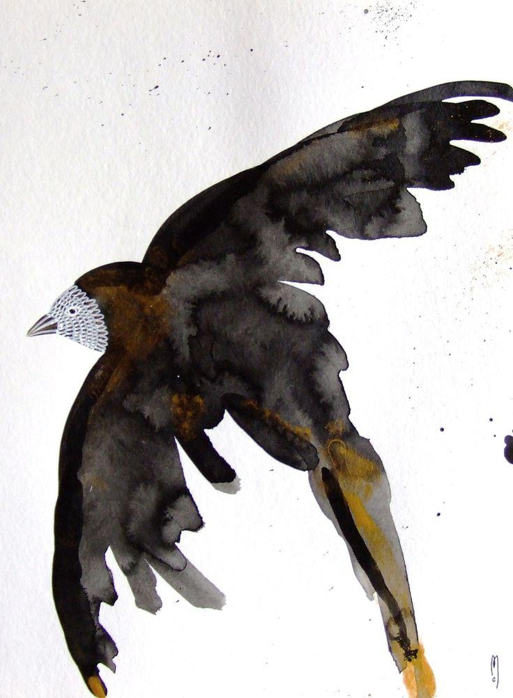 Oiseau encre oiseau dessin oiseau peinture minimalisme art for Minimalisme art