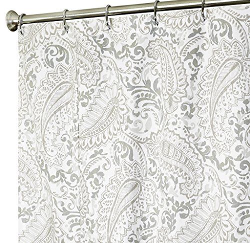 Extra Long Shower Curtain Paisley Fabric Shower Curtains 96 Inch Gray **  Want To Know