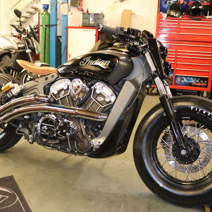 custom bobber indian scout motorcycle by moore speed racing