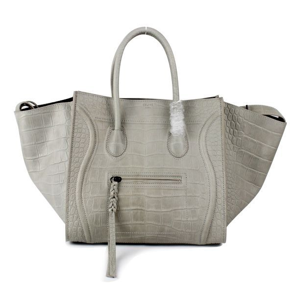 Celine Gray Croc Baggage Phantom Bag made along with the higher ...