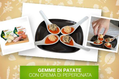 Comincia il #weekend ed è tempo di aperitivi con gli amici!  Scopri le #Ricette di Silvia: http://www.dimmidisi.it/it/dimmicomefai/le_ricette_di_silvia/article/gemme_di_patate_con_crema_di_peperonata.htm - #dimmidisi #cucina #ricetta #recipe #cooking #cuisine #aperitivo #fingerfood