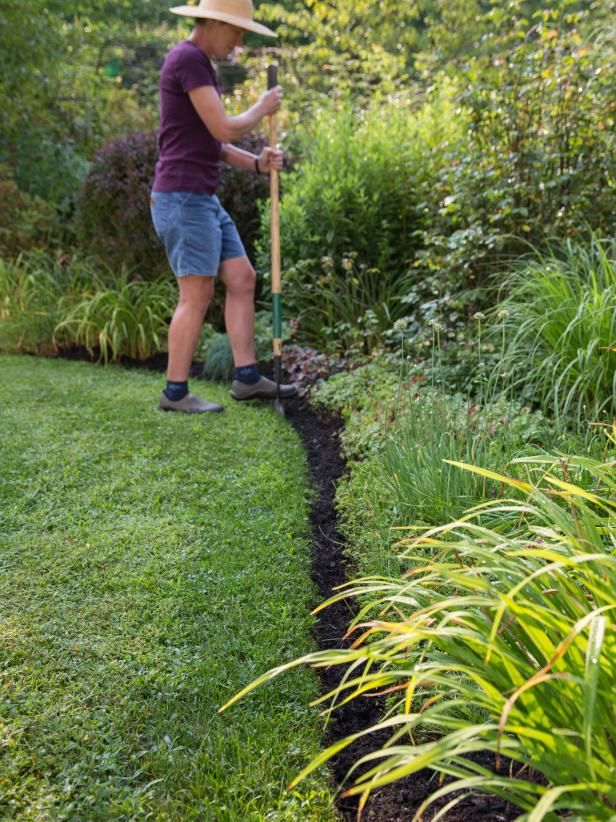 To Create A Classic Edge Along Planting Beds Use A Half Moon Edger Tool Simply Drive The Tool Straight Into The Lawn Garden Edging Lawn Borders Lawn Edging