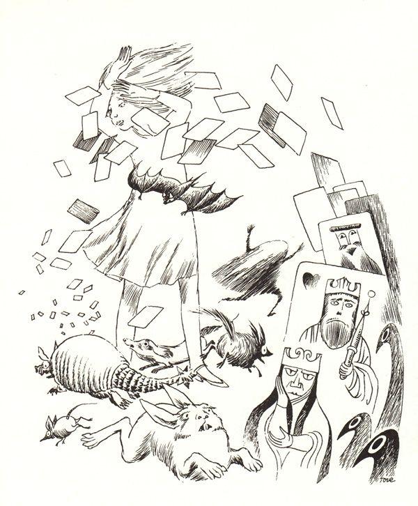 Tove Jansson's  Illustrations for Alice in Wonderland