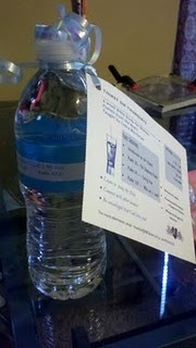 """Instead of sending invitations to their Bible Study, this group put the invitations on water bottles and put a scripture on the bottle, too. The title of their Bible study was """"Thirst"""". Great idea!"""