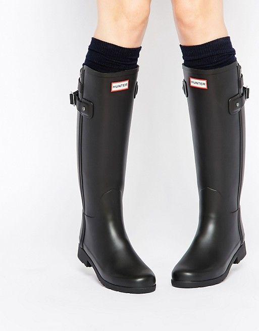 Hunter | Hunter Original Refined Back Strap Black Wellington Boots