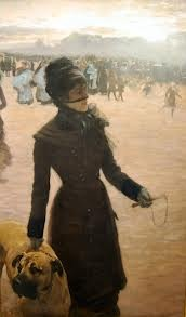 Giuseppe De Nittis -Signora con un cane 1878