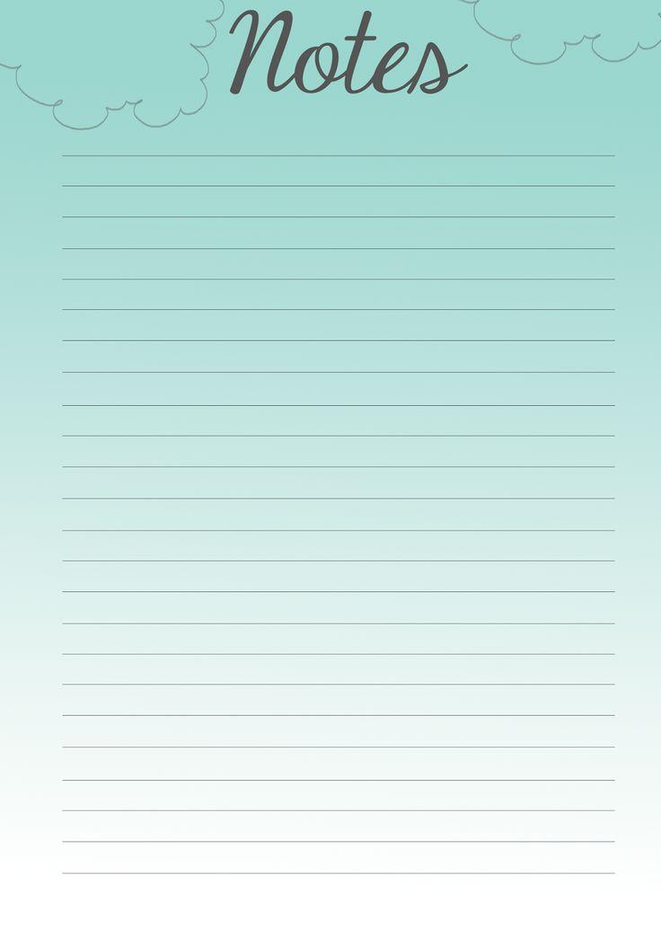 so joey creates  filofax pretties  free printable notes