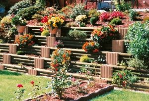best 25 stone raised beds ideas on pinterest raised bed planting garden design and corner garden. Black Bedroom Furniture Sets. Home Design Ideas