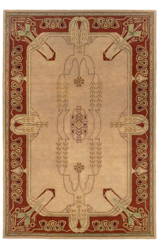 L.R. Resources Inc. Arts And Crafts LR41201 Ivory Rug.