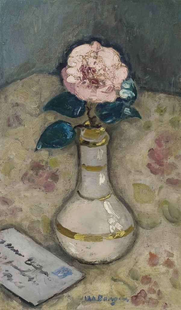 Kees Van Dongen (1877-1968): 'Le camélia rose'. Sold at auction in 2011 by @christiesinc
