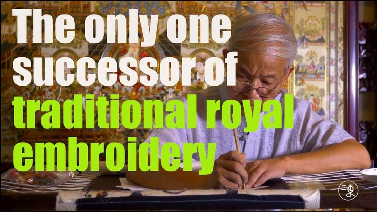 [Culture]The only one successor of traditional royal embroidery that wit...