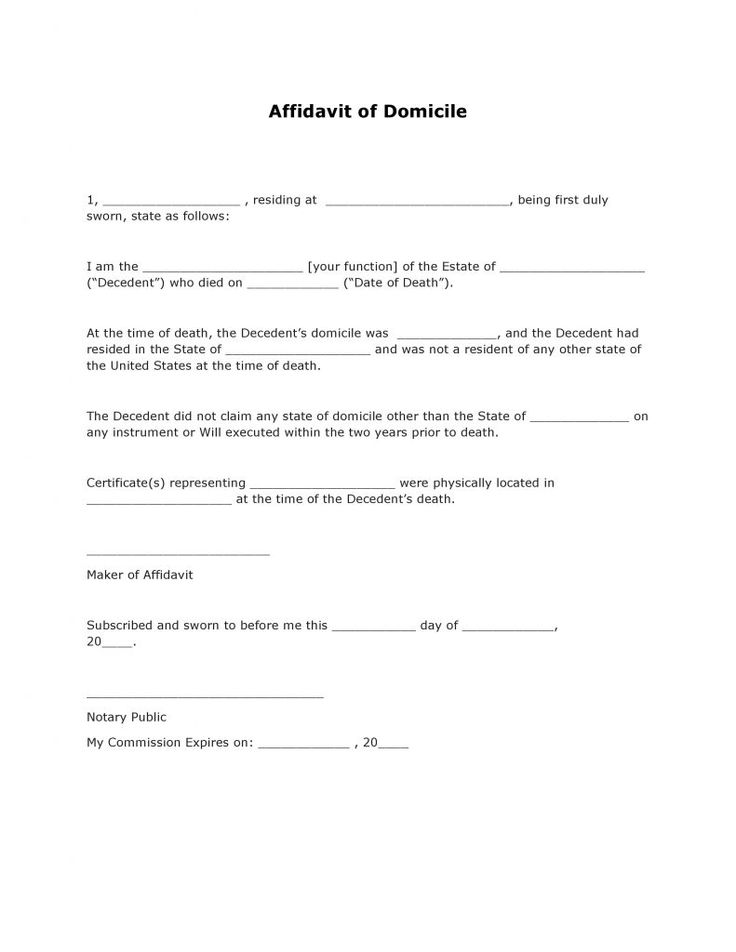 Affidavit of Domicile #AffidavitForms #Affidavit Affidavit Form - affidavit of loss template