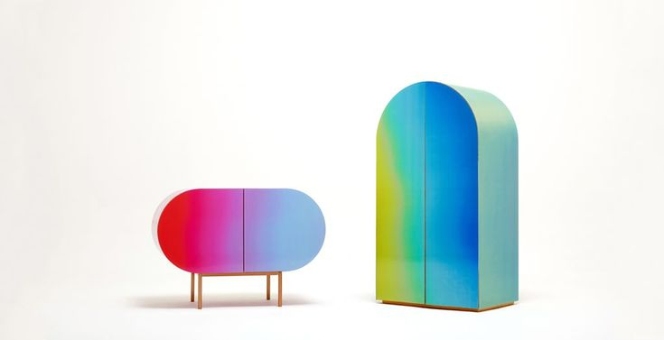 """The Korean based studio Orijeen created a cutting-edge furniture collection called """"Color Flow"""". Color-changing storage pieces comprising of a wardrobe and a small cabinet were produced using a lenticular process. Which is composed of a translucent plastic sheet containing a set of convex lenses on one side, and a flat surface on the other. The …"""