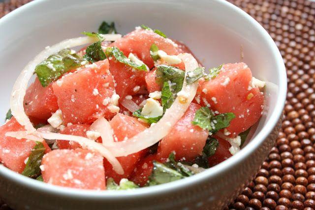Watermelon & Mint Salad | The Hobo Kitchen | Pinterest